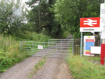 Entrance from Network Rail land