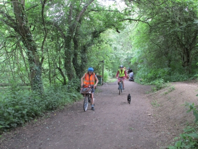A section of the original cyclepath/footpath