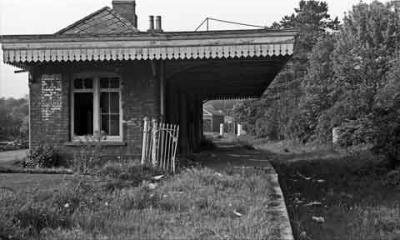 Tetbury station before demolition