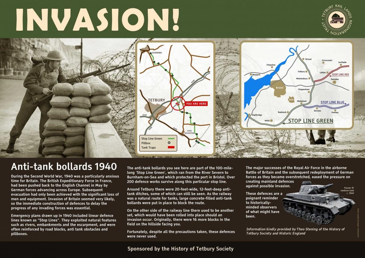 Tank traps information board