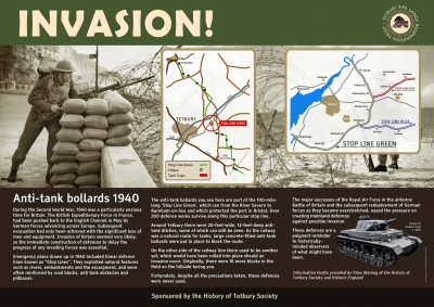 Click this thumbnail to view the tank traps information board
