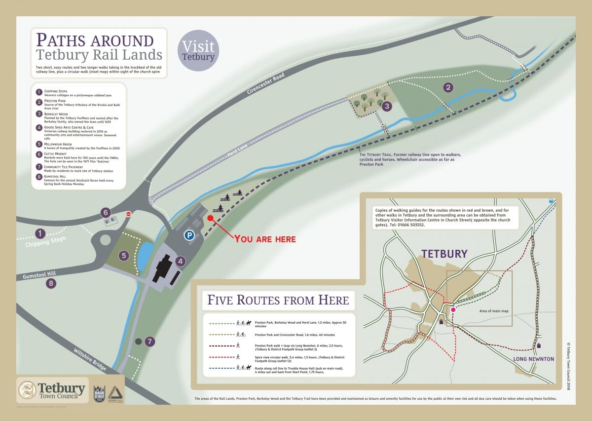 Paths around Tetbury Rail Lands