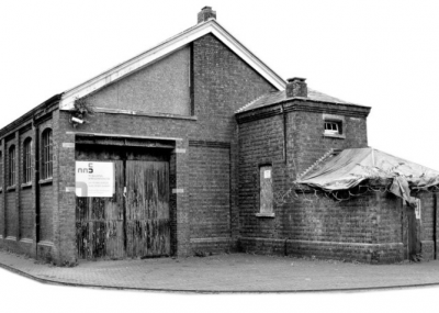 The dilapidated Goods Shed